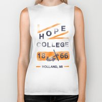 college Biker Tanks featuring Hope College by Joey Carty