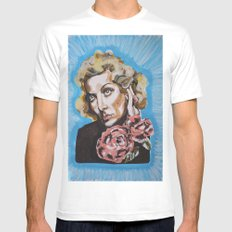 Carole Lombard White Mens Fitted Tee MEDIUM