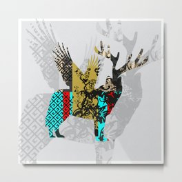 FabCreature · Steppenwolf 4 Metal Print
