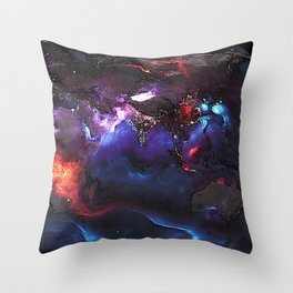 Beauty of Pollution / Aerosol Earth - Eastern Part Throw Pillow