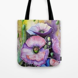 Field poppies, watercolor Tote Bag