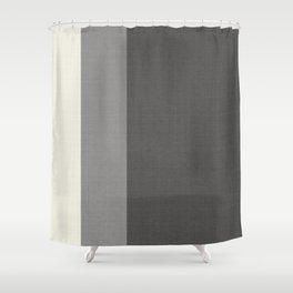 Tri-Color Split Vertically Grey Geometry Shower Curtain