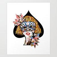 poker Art Prints featuring Poker Face by Enkel Dika