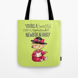 Leslie Knope Compliments: Sophisticated Baby Tote Bag