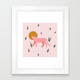trot cat Framed Art Print