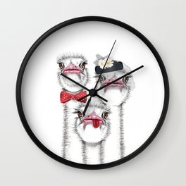 Ostrich family Wall Clock