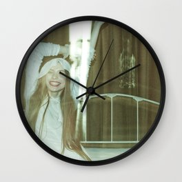 the unbearable tunnel of light and happiness Wall Clock
