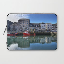 England Barbican Plymouth HDR Riverboat Berth Rivers Houses Cities HDRI Pier river Marinas Building Laptop Sleeve