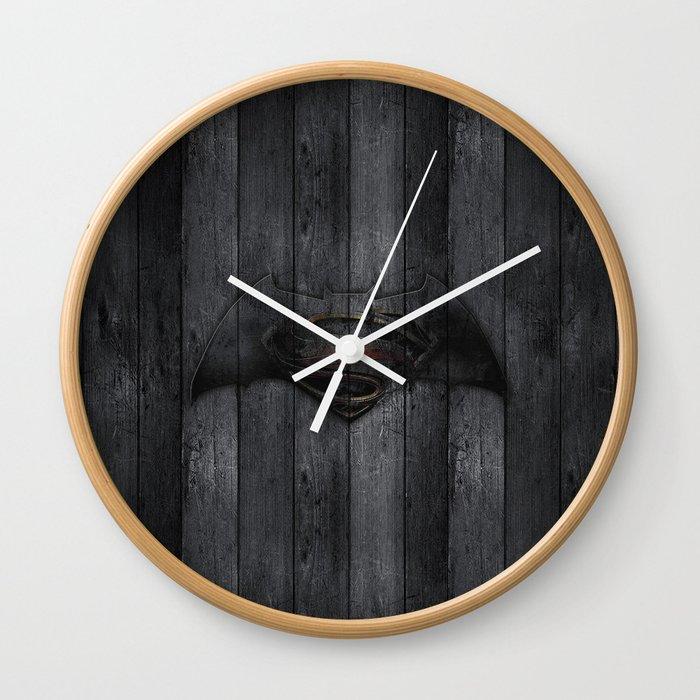 Bat and Man of Steel Wall Clock
