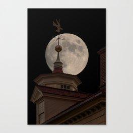 Moon Over Mount Vernon Canvas Print