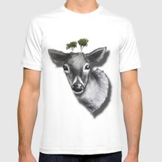 deer Mens Fitted Tee White MEDIUM