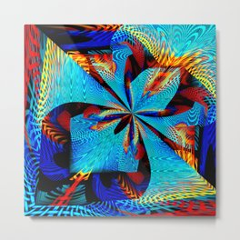 diagonal burst Metal Print