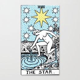 Modern Tarot - 17 The Star Canvas Print