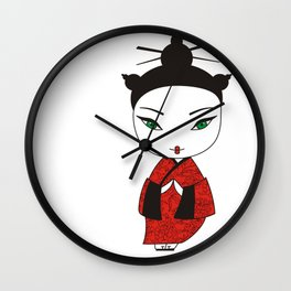 Geisha. Wall Clock