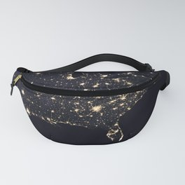 United States at Night Fanny Pack