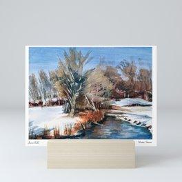 Winter Stream Mini Art Print