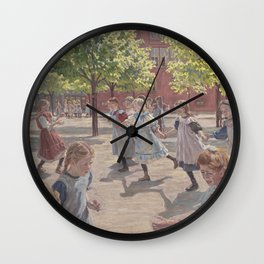 Peter Hansen - Playing Children, Enghave Square Wall Clock