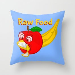 Raw Foods Food Fight Throw Pillow