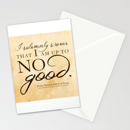 I am Up to No Good Stationery Cards