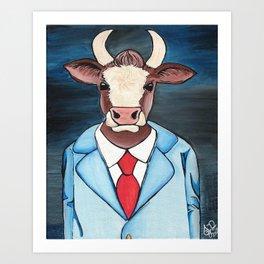 Business Bull Art Print