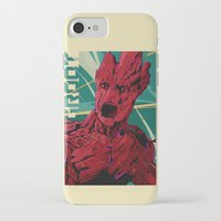 guardians of the galaxy iPhone & iPod Cases featuring Groot Guardians of the galaxy by W.B.