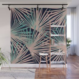 Tropical Fan Palm Leaves #5 #tropical #decor #art #society6 Wall Mural