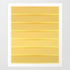 Tagged Gold no11 Art Print