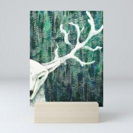 Christmas Stag handpainted Mini Art Print