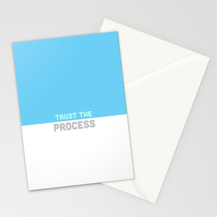 Trust the Process Stationery Cards