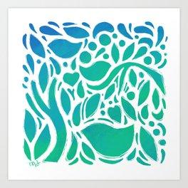 Ocean Garden Art Print