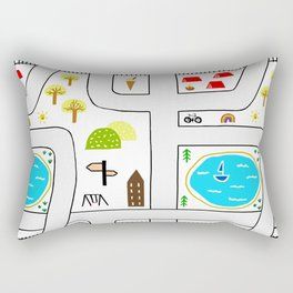 Childhood Map Rectangular Pillow