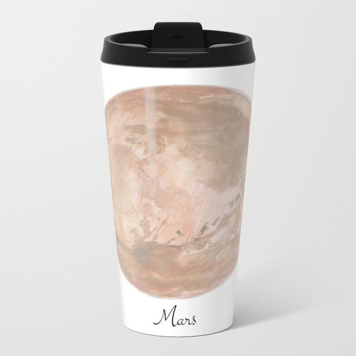 Mars planet Metal Travel Mug