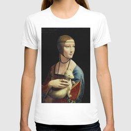 Lady with an Ermine, Leonardo da Vinci T-shirt