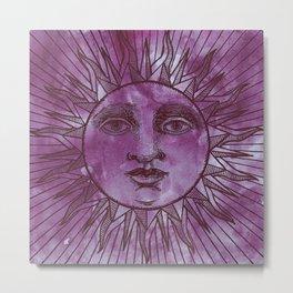Sun vintage wine Metal Print