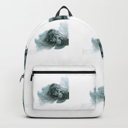 Fluffy bush in shades of gray Backpack