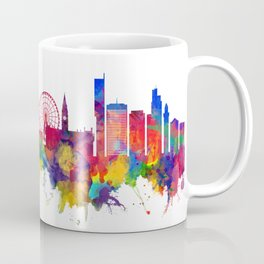 Manchester England Skyline Coffee Mug