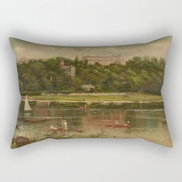 The Royal Star and Garter Home - Richmond on the Thames River landscape by James Isaiah Lewis Rectangular Pillow