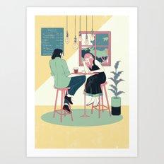 Summer Date Art Print