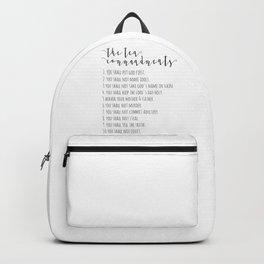 The Ten Commandments Exodus 20 Backpack