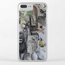 black and wight fairy Clear iPhone Case