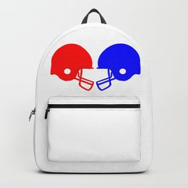 Football helmets Red And Blue Backpack