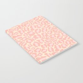 Leopard Print | Pastel Pink Girly Bedroom Cute | Cheetah texture pattern Notebook