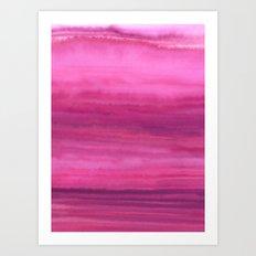 Waves - Sunset Art Print