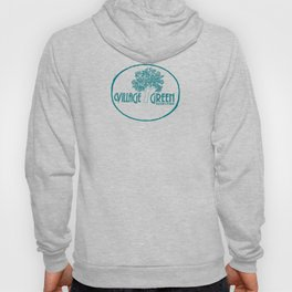 Village Green Bookstore Green on Tan Hoody