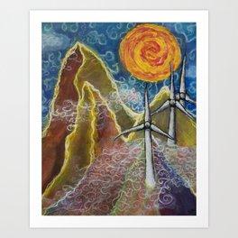 Windy Day in Tucker County Art Print