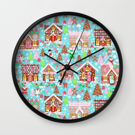 Gingerbread House Christmas Winter Candy, sweets.christmas gift, holiday gift for kids of all ages, Wall Clock