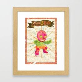 zombie ala lucha  Framed Art Print