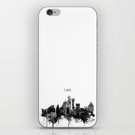 Dallas TexasBlack White Skyline Poster iPhone Skin