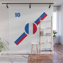 French Flag soccer team jersey Wall Mural
