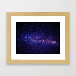 Purple Glitter Star Galaxy Framed Art Print